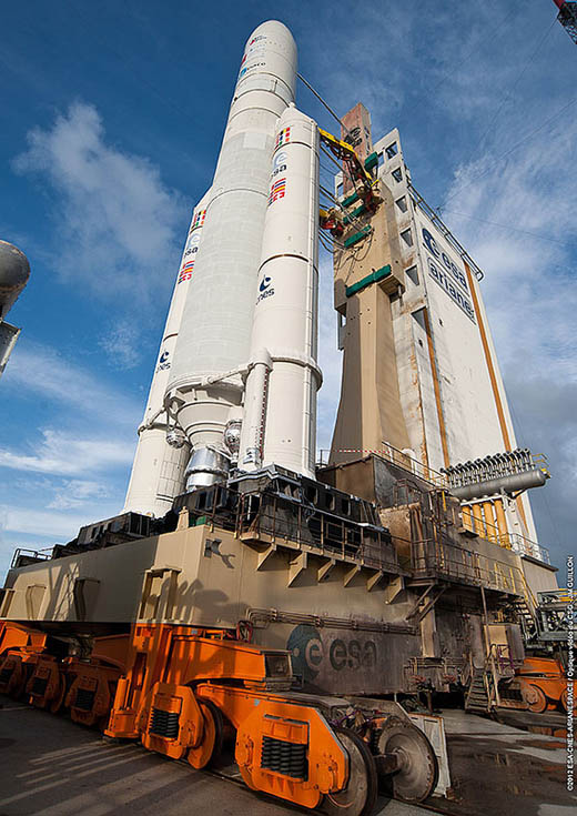 Solar For America >> Spaceflight Now | Ariane Launch Report | Ariane 5 rocket ...