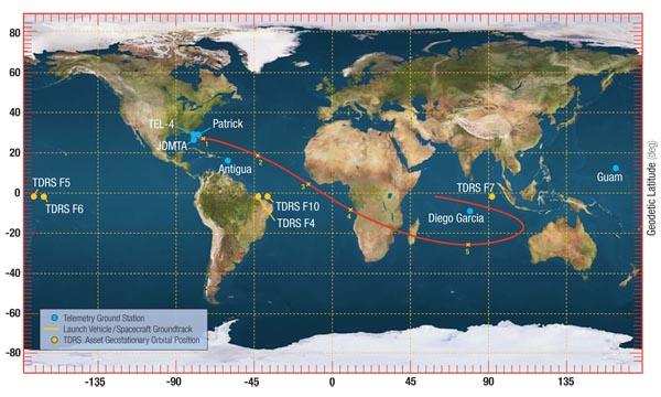 Spaceflight Now Atlas Launch Report Atlas Launch Ground Track - Atlus map