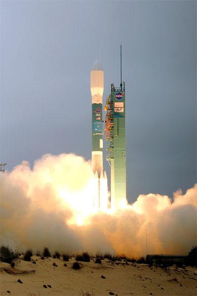"""[组图]""""德尔塔""""2型火箭发射商业地球成像卫星"""