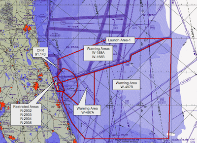 Spaceflight Now Falcon Launch Report Holiday Travelers Trump - Us restricted airspace map