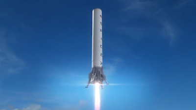 artist s concept of a falcon 9 first stage descending to a landing photo credit spacex the california based space transportation company founded in 2002