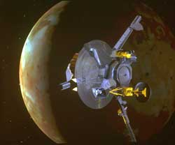 Galileo was the first to measure Jupiters atmosphere with a descent probe and the first to conduct longterm  Joint Jupiter Observations in 2000