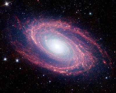 Galaxia Espiral M81, Imagen: Spitzer/NASA