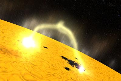 Spaceflight Now | Breaking News | Solar fireworks signal new