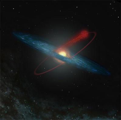 Ilustración, M12 pierde estrellas a su paso por la Vía Láctea. Crédito:   European Southern Observatory . ESO.