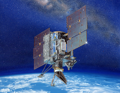 NASA's QuikSAT satellite - artist's conception