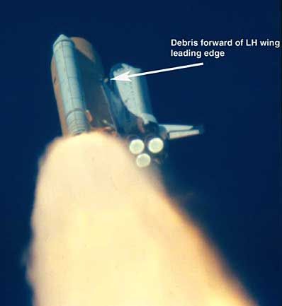 space shuttle columbia foam strike - photo #7