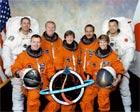 La tripulación de la misión STS Discovery