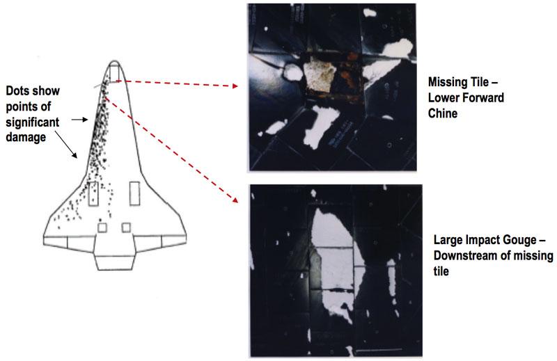space shuttle atlantis tile damage - photo #1