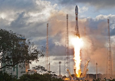 Spaceflight Now Soyuz Launch Report First Sentinel