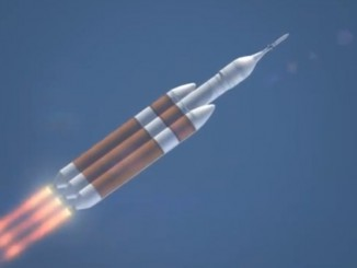 The Delta 4-Heavy rocket soars away from Cape Canaveral's Complex 37B launch pad.