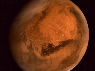 India's Mars Orbiter Mission took this photo of the red planet after it arrived last week. Credit: ISRO