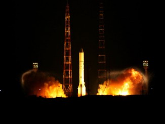 File photo of a Proton rocket launching from the Baikonur Cosmodrome in Kazakhstan. Credit: Roscosmos