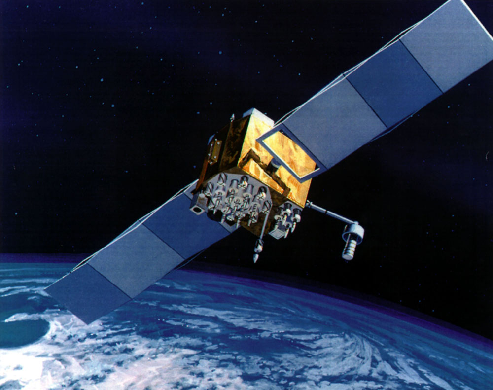 An artist's concept of a GPS Block 2F satellite. Credit: U.S. Air Force.