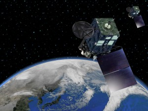 Artist's concept of the Himawari 8 satellite. Credit: MELCO
