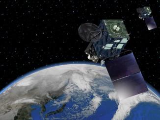 Artist's concept of the Himawari 8 satellite. Credit: MELCO