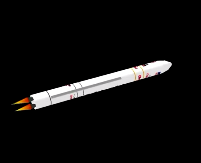 After consuming its supply of kerosene and liquid oxygen propellants, the Antares first stage shuts down at an altitude of about 62 miles.