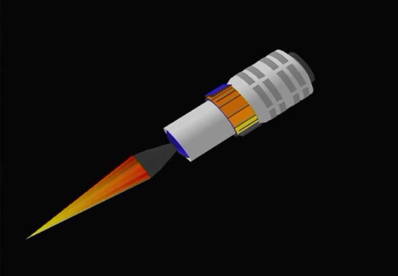The rocket's solid-fueled Castor 30XL second stage ignites at an altitude of 87 miles, ramping up to a maximum power of 120,000 pounds of thrust during a 166-second burn.