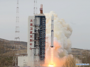 The Yaogan 22 satellite lifted off on a Long March 4C rocket at 2:31 p.m. Beijing time Monday. Credit: Xinhua