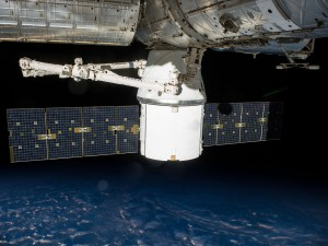 SpaceX's Dragon spacecraft is attached to the International Space Station's Harmony module. Credit: NASA