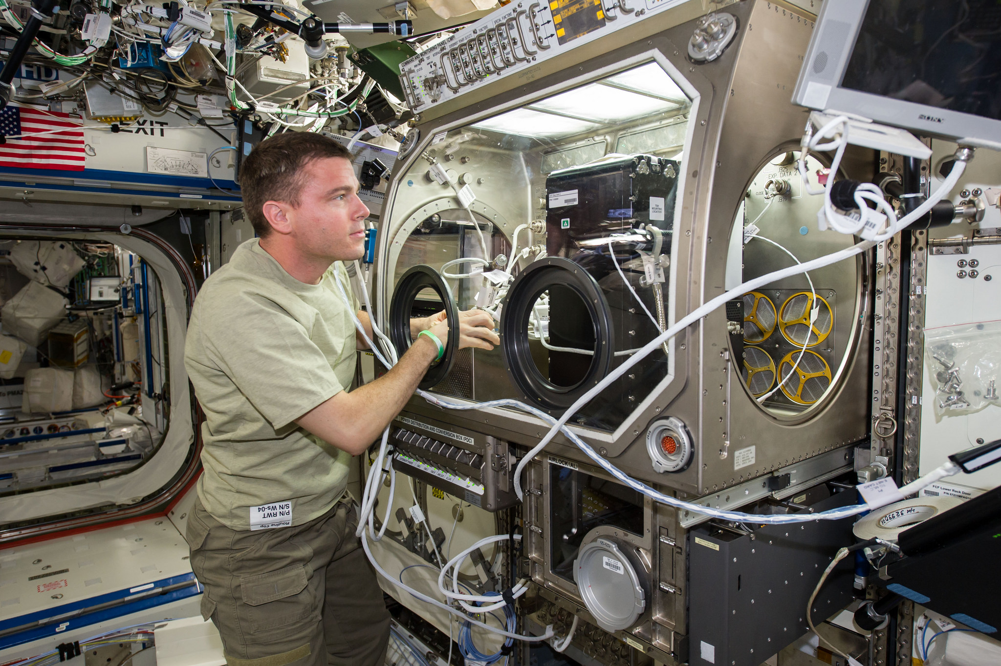 NASA astronaut Reid Wiseman aboard the International Space Station. Credit: NASA