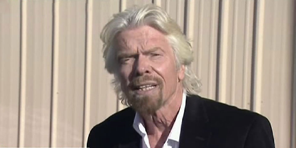 Richard Branson speaks to the press about the Virgin Galactic accident.