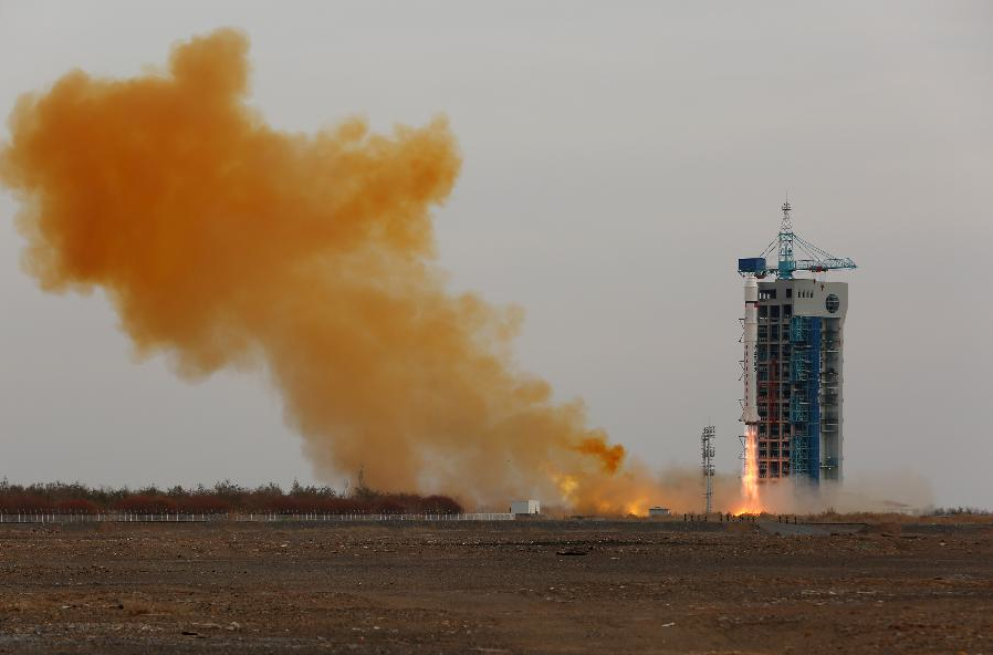 The Long March 2D rocket lifted off at 0712 GMT (2:12 a.m. EST) Thursday from the Jiuquan space base in northwest China. Credit: Xinhua
