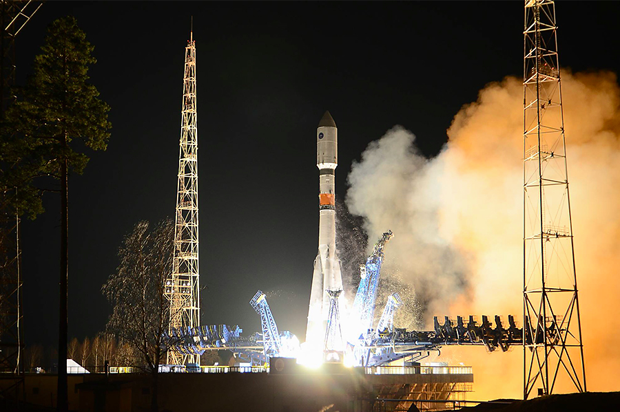 A Soyuz rocket lifted off Oct. 30 from the Plesetsk Cosmodrome with a Meridian communications satellite for the Russian military. Credit: Russian Ministry of Defense