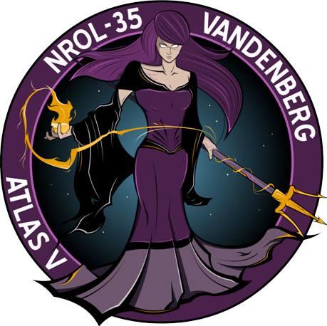 The NROL-35 mission logo. Credit: NRO
