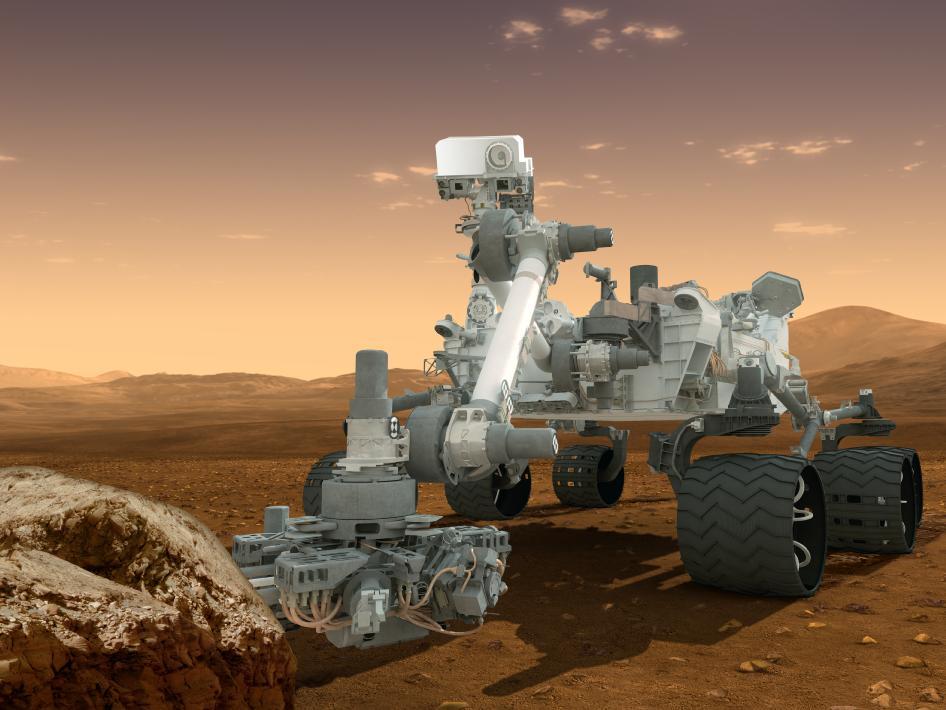 Artist's concept of the Curiosity rover. Credit: NASA/JPL-Caltech