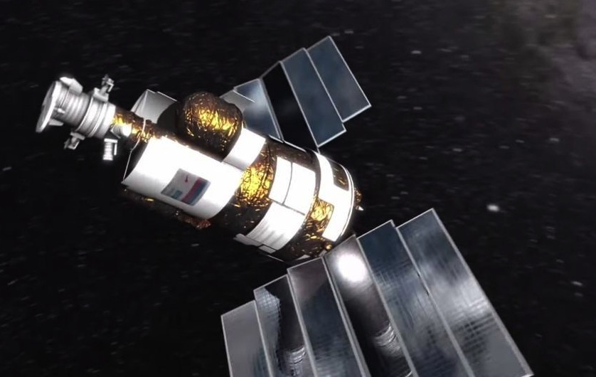 Artist's concept of the Resurs P2 spacecraft in orbit. Credit: Roscosmos