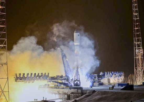 A Soyuz rocket lifted off at 2152 GMT (4:52 p.m. EST) Sunday from the Plesetsk Cosmodrome in northern Russia. Credit: Russian Defense Ministry