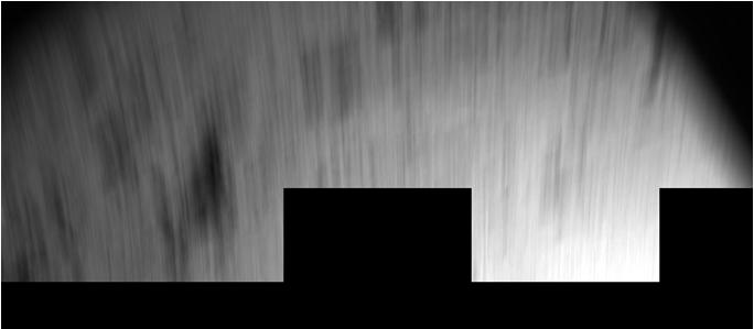 An image from Philae's initial touchdown on comet 67P/Churyumov-Gerasimenko, blurred from the lander's motion as it bounced across the comet. Credit: ESA/Rosetta/Philae/CIVA
