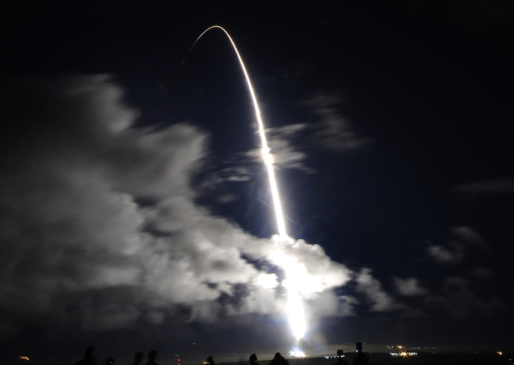 A United Launch Alliance Atlas 5 rocket lifted off Friday night from Vandenberg Air Force Base in California December 12, 2014. The rocket has a classified payload for the National Reconnaissance Office. Launch occurred at 7:19 p.m. PST (10:19 p.m. EST; 0319 GMT).  REUTERS/Gene Blevins  (UNITED STATES)