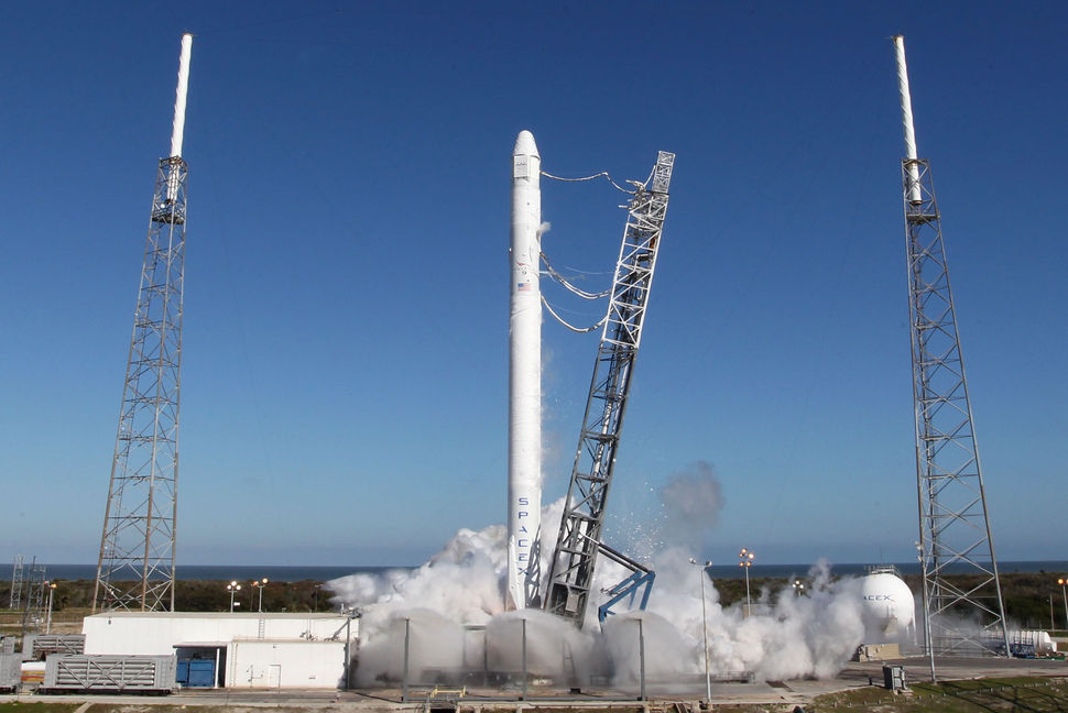 File photo of a Falcon 9 static fire before a previous launch. Credit: SpaceX