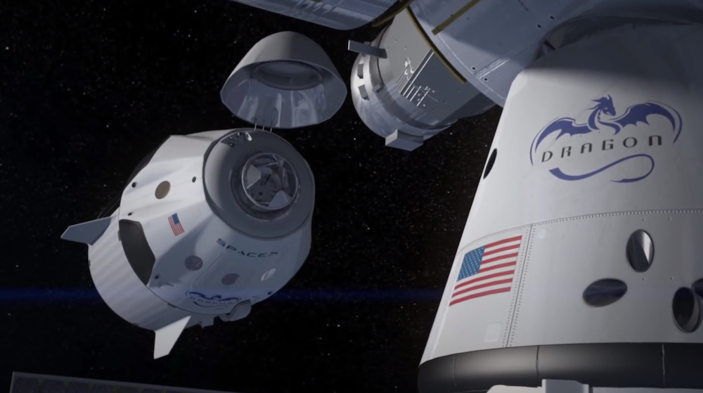 Artist's concept of SpaceX's Dragon V2 crew capsule, one of two commercial vehicles contracted by NASA to ferry astronauts to and from the International Space Station. Credit: SpaceX