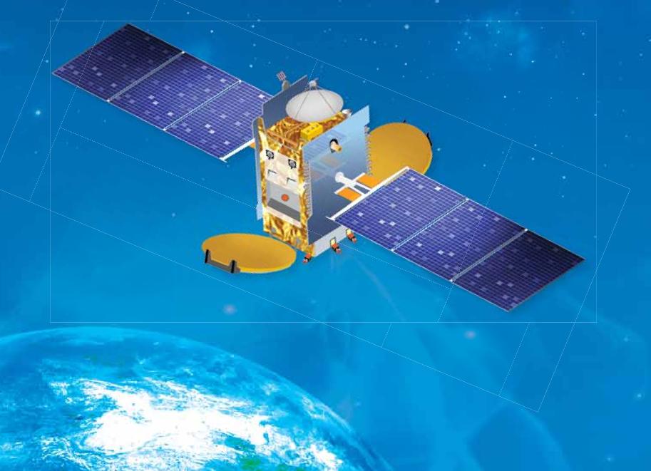 Artist's concept of the GSAT 16 satellite. Credit: ISRO