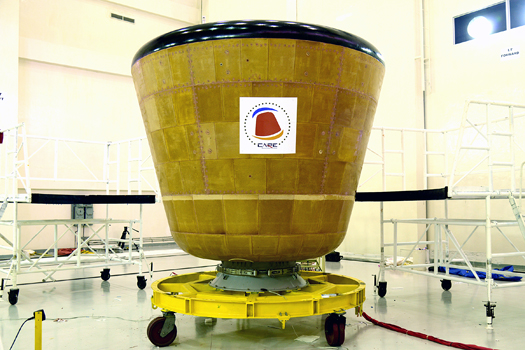 The CARE crew module. Credit: ISRO