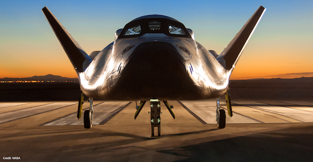 A prototype of Sierra Nevada's Dream Chaser space plane conducted a taxi and approach and landing test campaign in 2013 at Edwards Air Force Base, California. Another landing test is planned for March. Credit: NASA