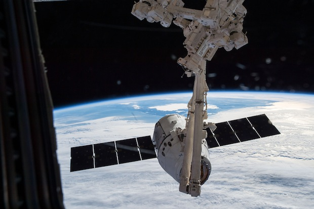 SpaceX's Dragon spacecraft arrives at the International Space Station on Jan. 12 with 2.6 tons of supplies. Credit: NASA