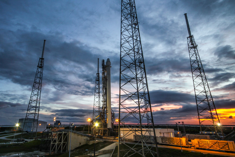 File photo of a Falcon 9 rocket at Cape Canaveral's Complex 40 launch pad before a previous mission. Credit: SpaceX