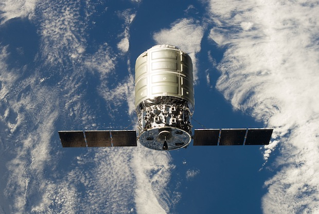 File photo of an Orbital Sciences Corp. Cygnus supply ship approaching the International Space Station. Credit: NASA