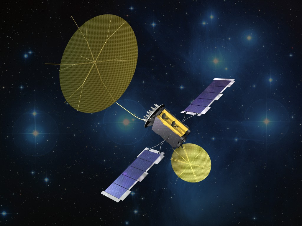 An artist's concept of MUOS. Credit: Lockheed Martin