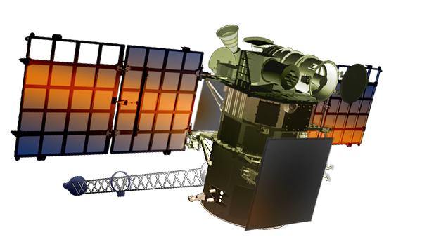 Artist's concept of the DSCOVR spacecraft with its solar panels and magnetometer boom extended. Credit: NOAA