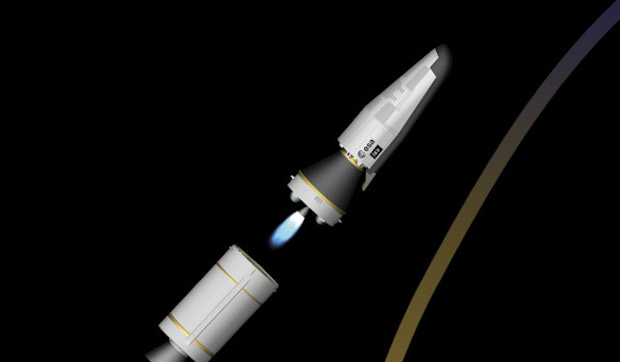 The Zefiro 9 third stage shuts down and separates.