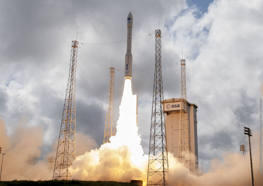 Photo credit: Photo credit: ESA/CNES/Arianespace – Photo Optique Video du CSG – JM Guillon