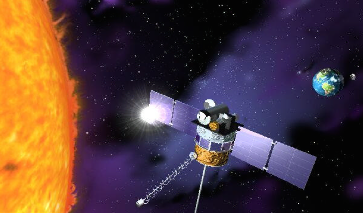 Artist's concept of the DSCOVR spacecraft. Credit: NASA/Scripps Institution of Oceanography