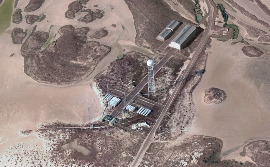 artist s concept of spacex s launch pad in south texas which will host launches of falcon