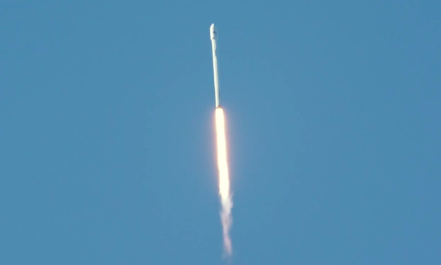 The Falcon 9 rocket reaches Mach 1, the speed of sound.