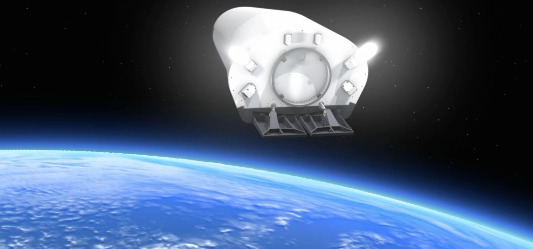 The IXV reaches a maximum altitude of about 412 kilometers (256 miles).
